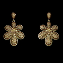 Elegance by Carbonneau E-8293-Gold-Brown Gold Brown Chandelier Vintage Earrings 8293
