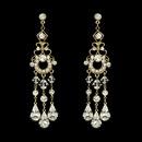 Elegance by Carbonneau E-8318-Gold Gold Bridal Chandelier Earrings E 8318