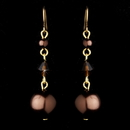 Elegance by Carbonneau E-8355-Brown Earring 8355 Gold Brown