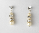 Elegance by Carbonneau E-8366-Silver-Ivory Earring 8366 Silver Ivory