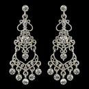 Elegance by Carbonneau E-8415-RD-CL Rhodium Clear Rhinestone Chandelier Earrings 8415