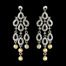 Elegance by Carbonneau e-8488-silver-ab Silver Clear AB Earring Set 8488