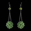 Elegance by Carbonneau E-8551-Peridot Peridot Beaded Ball Earring Set 8551
