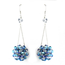 Elegance by Carbonneau E-8551-Sapphire Sapphire Beaded Ball Earring Set 8551