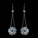 Elegance by Carbonneau E-8551-Smoked Smoked Clear Aurora Borealis Beaded Ball Earring Set 8551