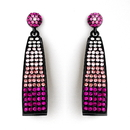 Elegance by Carbonneau E-8562-Pink Pink Mix Bell Shaped Dangle Earring Set 8562