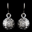 Elegance by Carbonneau E-8571-AS-Clear Antique Silver Rhodium Clear CZ Pave Vintage Ball Drop Earrings 8571