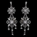 Elegance by Carbonneau E-8588 Ravishing Silver Clear Crystal Chandelier Earrings 8588