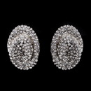 Elegance by Carbonneau E-8589-Clear Silver Clear Crystal Clip-On Earrings E 8589