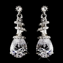 Elegance by Carbonneau E-8592--AS-Clear Silver Clear Crystal Swirl Earrings 8592