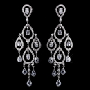 Elegance by Carbonneau E-8627-AS-Clear Radiant Silver Clear CZ Chandelier Earrings 8627