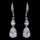 Elegance by Carbonneau E-8631-AS-Clear Delightful Silver Clear CZ Dangle Earrings 8631