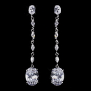 Elegance by Carbonneau E-8637-AS-Clear Ravishing Silver Clear CZ Dangle Earrings 8637