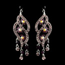 Elegance by Carbonneau E-8657-S-Amethyst Silver Amethyst & AB Rhinestone Dangle Bridal Earrings 8657
