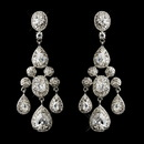 Elegance by Carbonneau E-8677-AS-Clear Antique Silver Clear CZ Crystal Bridal Chandelier Bridal Earrings 8677