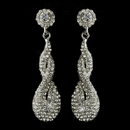 Elegance by Carbonneau E-8682-AS-Clear Antique Silver Clear Rhinestone & Crystal Dangle Bridal Earrings 8682