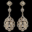 Elegance by Carbonneau E-8685-LG-CL Light Gold Clear Rhinestone Chandelier Earrings 3824