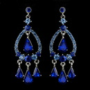 Elegance by Carbonneau E-8686-S-Blue Silver Blue Sapphire Crystal & Rhinestone Chandelier Bridal Earrings 8686