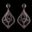 Elegance by Carbonneau E-8687-AS-Amethyst Antique Silver Amethyst CZ Tear Drop Crystal & Rhinestone Chandelier Bridal Earrings 8687