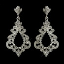 Elegance by Carbonneau E-8688-AS-Clear Antique Silver Clear Rhinestone Chandelier Bridal Earrings 8688