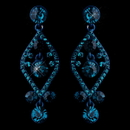 Elegance by Carbonneau E-8705-Turquoise Turquoise Crystal Post Dangle Earrings 8705