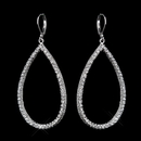 Elegance by Carbonneau E-8716-AS-Clear Silver Clear CZ Crystal Dangle Bridal Earrings 8716