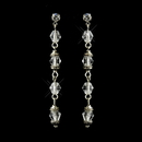 Elegance by Carbonneau E-8738-AS-Clear Antique Silver Clear Crystal Drop Bridal Earrings 8738