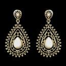 Elegance by Carbonneau E-8822-G-White Gold White Stone Earrings 8822