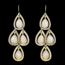 Elegance by Carbonneau E-8839-G-White Gold White Crystal Fashion Dangle Earrings 8839