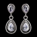Elegance by Carbonneau E-8931-AS-Clear Antique Rhodium Silver Clear CZ Crystal Drop Bridal Earrings 8931
