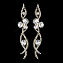 Elegance by Carbonneau E-8942-G-Clear Gold Clear Rhinestone Dangle Earrings 8942