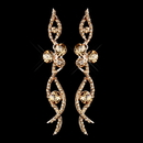 Elegance by Carbonneau E-8942-RG-Rose-Gold Rose Gold Champagne Rhinestone Dangle Earrings 8942