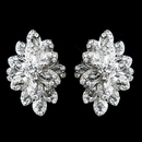 Elegance by Carbonneau E-8944-AS-Clear Antique Silver Clear Rhinestone Clip On Earrings 8944