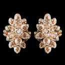 Elegance by Carbonneau E-8944-RG-Champagne Rose Gold Champagne Rhinestone Clip On Earrings 8944