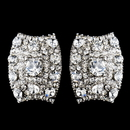 Elegance by Carbonneau E-8947-AS-Clear Antique Silver Clear Rhinestone Clip On Earrings 8947