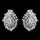 Elegance by Carbonneau E-8948-AS-Clear Antique Silver Clear Rhinestone Clip On Earrings 8948
