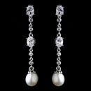 Elegance by Carbonneau E-8970-AS-FW Antique Silver Ivory Freshwater Pearl Earrings 8970