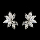 Elegance by Carbonneau E-8992-AS-Clear Silver Clear CZ Marquise Crystal Earrings 8992
