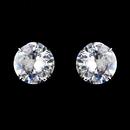 Elegance by Carbonneau E-9050-AS-Clear Antique Silver Clear Circular CZ Earring Set 9050