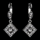 Elegance by Carbonneau E-9245-AS-Clear Antique Silver Clear Austrian Crystal Drop Bridal Earrings 9245