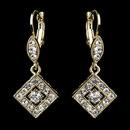 Elegance by Carbonneau E-9245-G-Clear Gold Clear Austrian Crystal Drop Bridal Earrings 9245