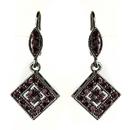 Elegance by Carbonneau E-9245-H-Amethyst Hematite Amethyst Austrian Crystal Drop Bridal Earrings 9245