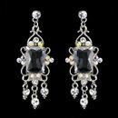 Elegance by Carbonneau E-936-Silver-AB Vintage Silver & AB Crystal Drop Earrings E 936