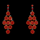 Elegance by Carbonneau E-939-Orange-Red Glamorous Orange Red Chandelier Earrings E 939