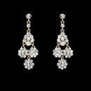 Elegance by Carbonneau E-940_Gold_Clear Dazzling Gold Clear Chandelier Earrings E 940