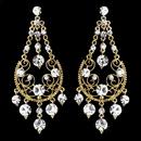 Elegance by Carbonneau E-941 Clear Rhinestone Bridal Earrings E 941 (Silver or Gold)