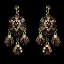 Elegance by Carbonneau E-943gldbrwntopaz Celebrity Style Gold Brown Topaz Chandelier Earrings E 943