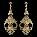 Elegance by Carbonneau Gold Topaz Rhinestone Chandelier Earrings 954