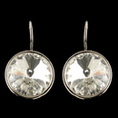 Elegance by Carbonneau E-9603-S-CL Silver Clear Swarovski Crystal Element Large Round Leverback Earrings 9603