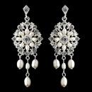 Elegance by Carbonneau E-9684-S-FW Silver Ivory Freshwater Pearl Chandelier Earrings 9684